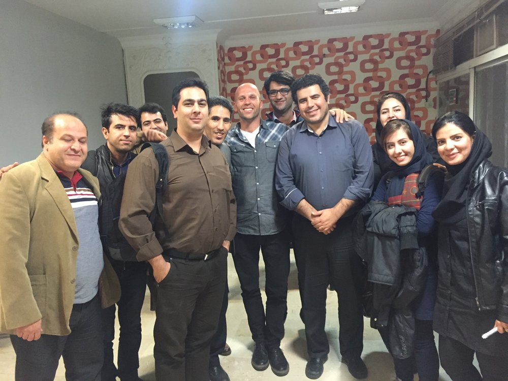 Cool group of Iranians I met in Tehran