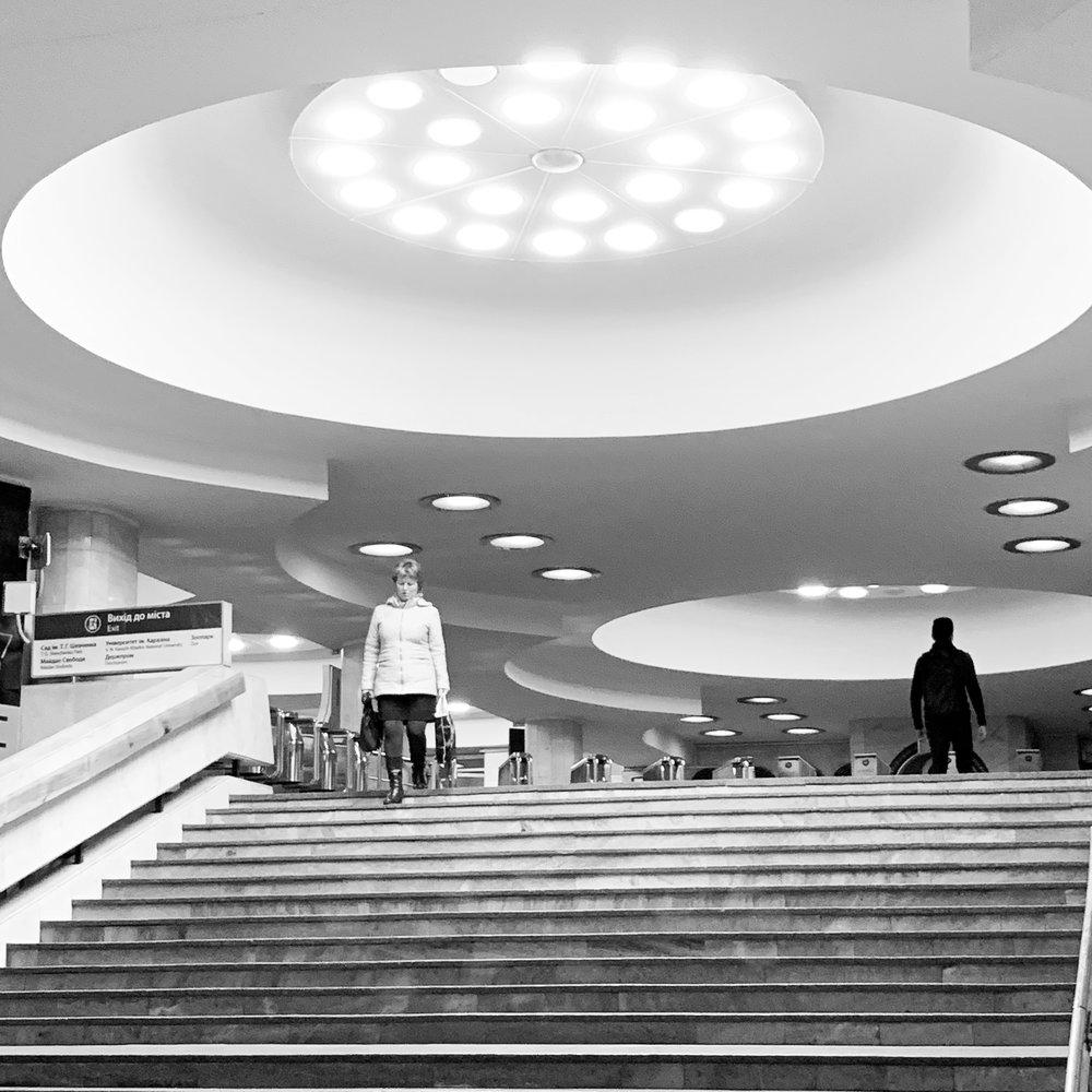 Kharkiv Metro. Like a spaceship is landing
