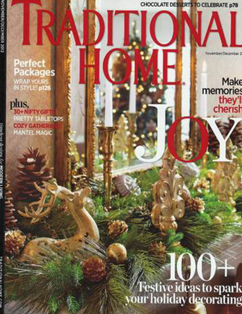"Traditional Home magazine Nov/Dec 2012 ""Peace in the Woods"" Shazalynn Cavin-Winfrey SCW Interiors Interior Design"