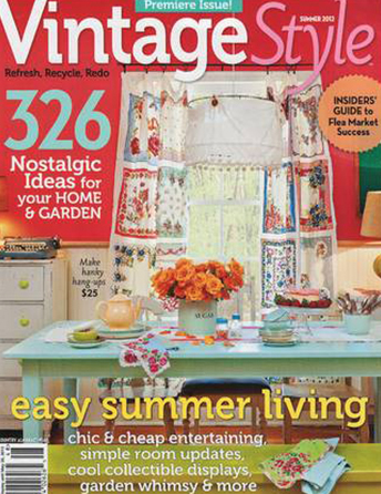 "Vintage Style magazine Summer 2012 ""Country Chic"" Interior Designer Shazalynn Cavin-Winfrey of SCW Interiors renovates a circa 1905 cottage in Buck Hill Falls Pennsylvania"