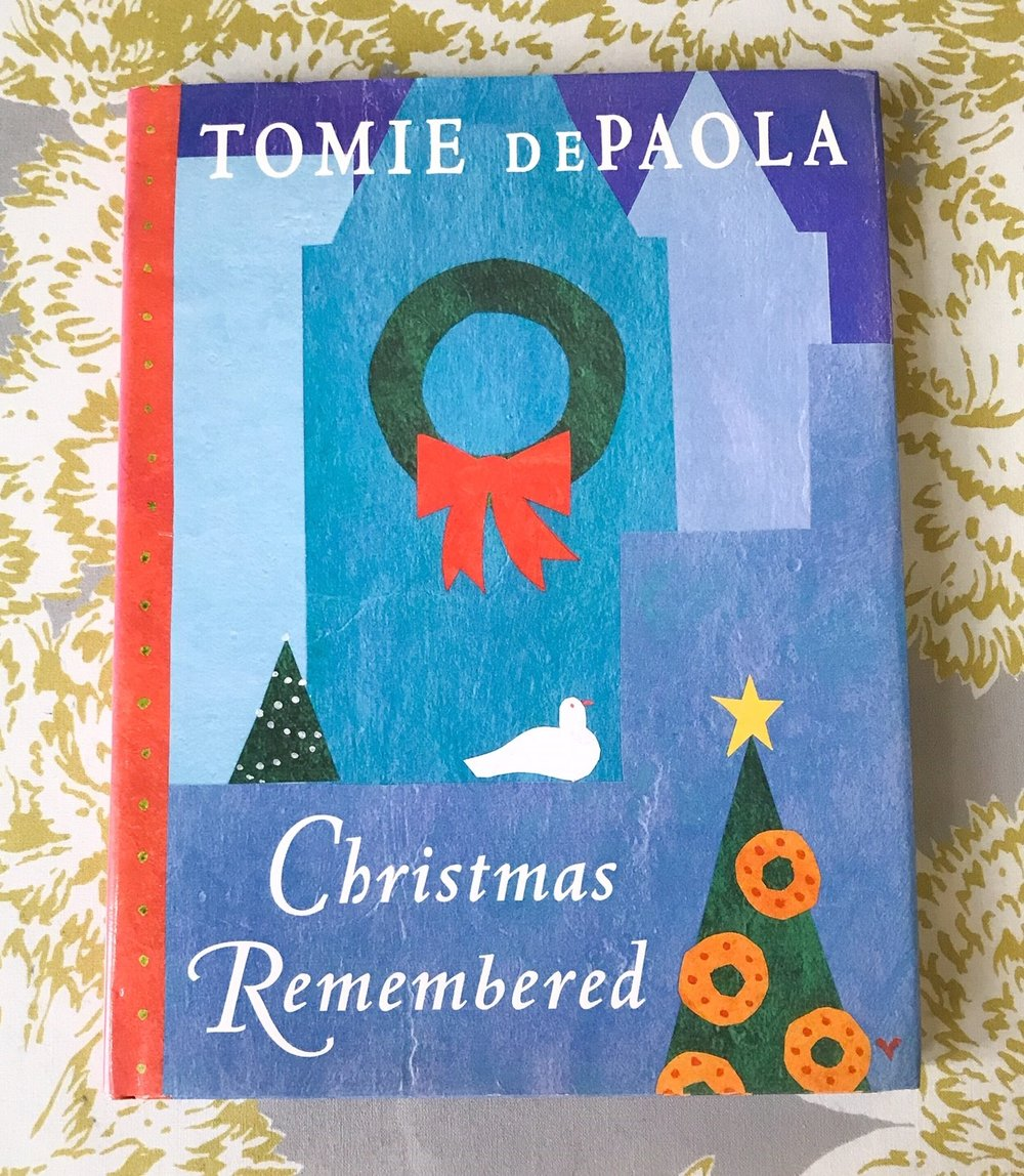 """SCW Interiors Life Hacks Blog Post : Poinsettias. Here is another one of my favorite Christmas books by Tomie de Paola, """"Christmas Remembered""""."""