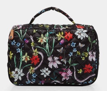 SCW Interiors Life Hacks Blog Post : My Holiday Wish List that includes this black floral travel bag