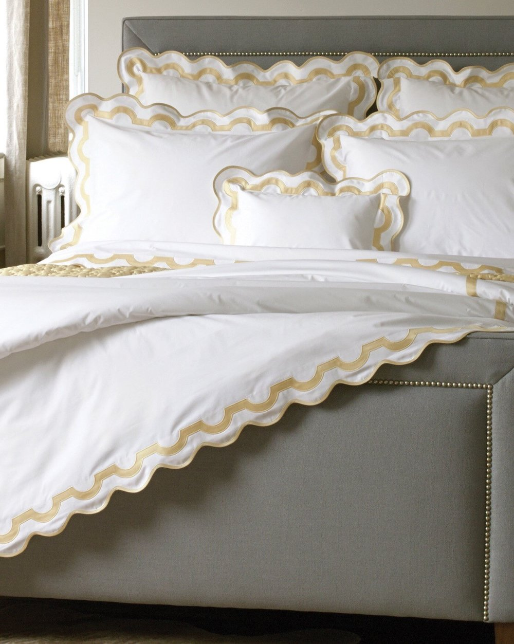 Matouk Mirasol Sheets can be special ordered at the SCW Showroom