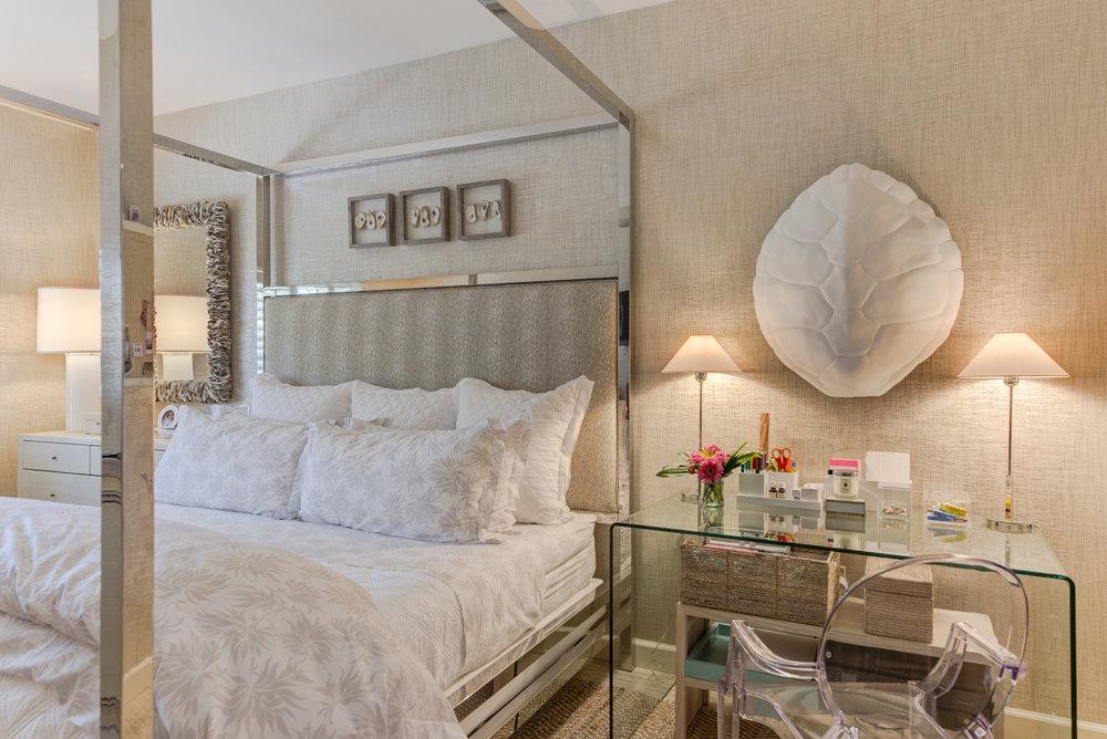 Standard Pillows on a Queen Bed