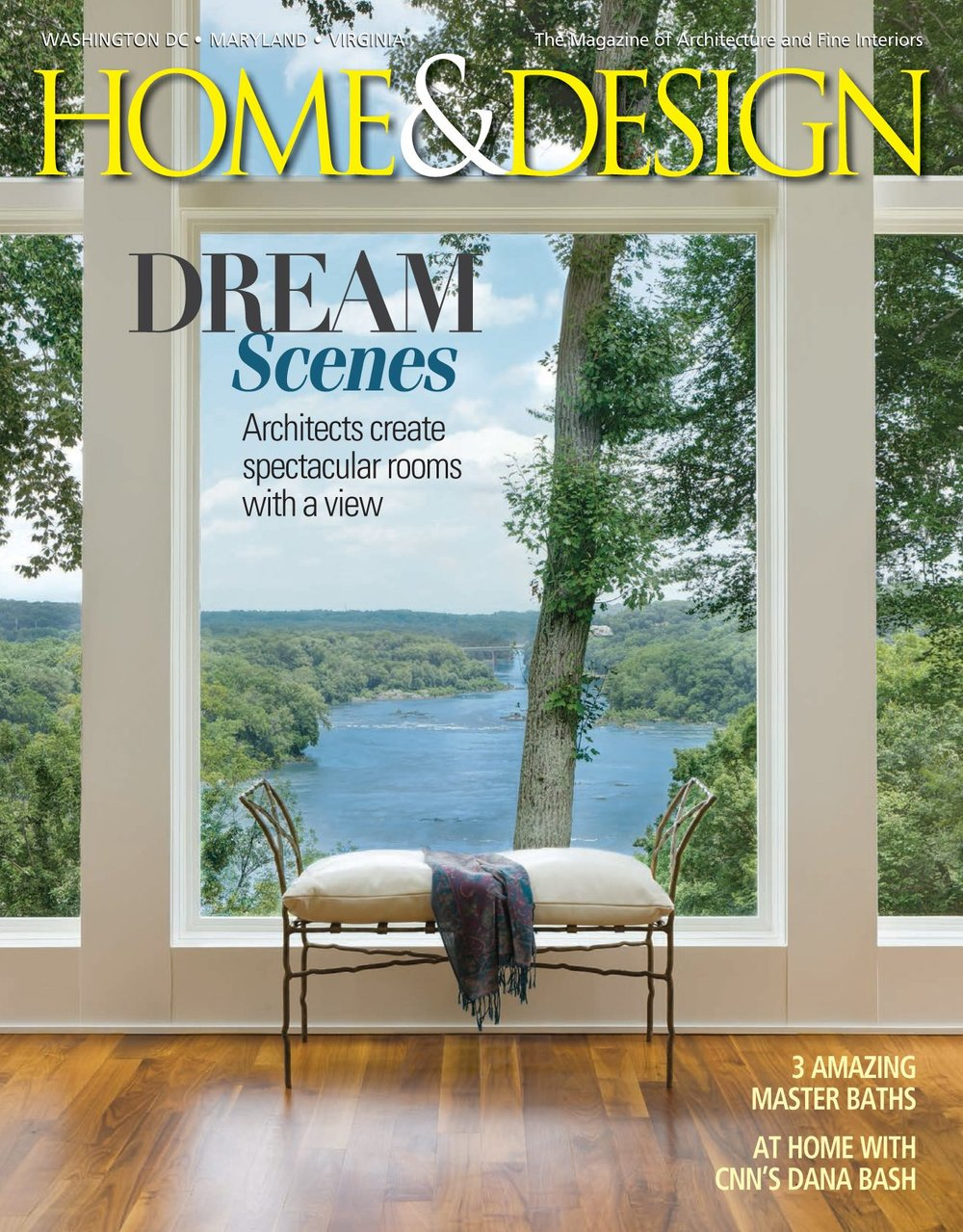 "Home & Design magazine Fall 2015 ""Serene Retreats"" Interior Designer Shazalynn Cavin-Winfrey of SCW Interiors designs a luxury bath"