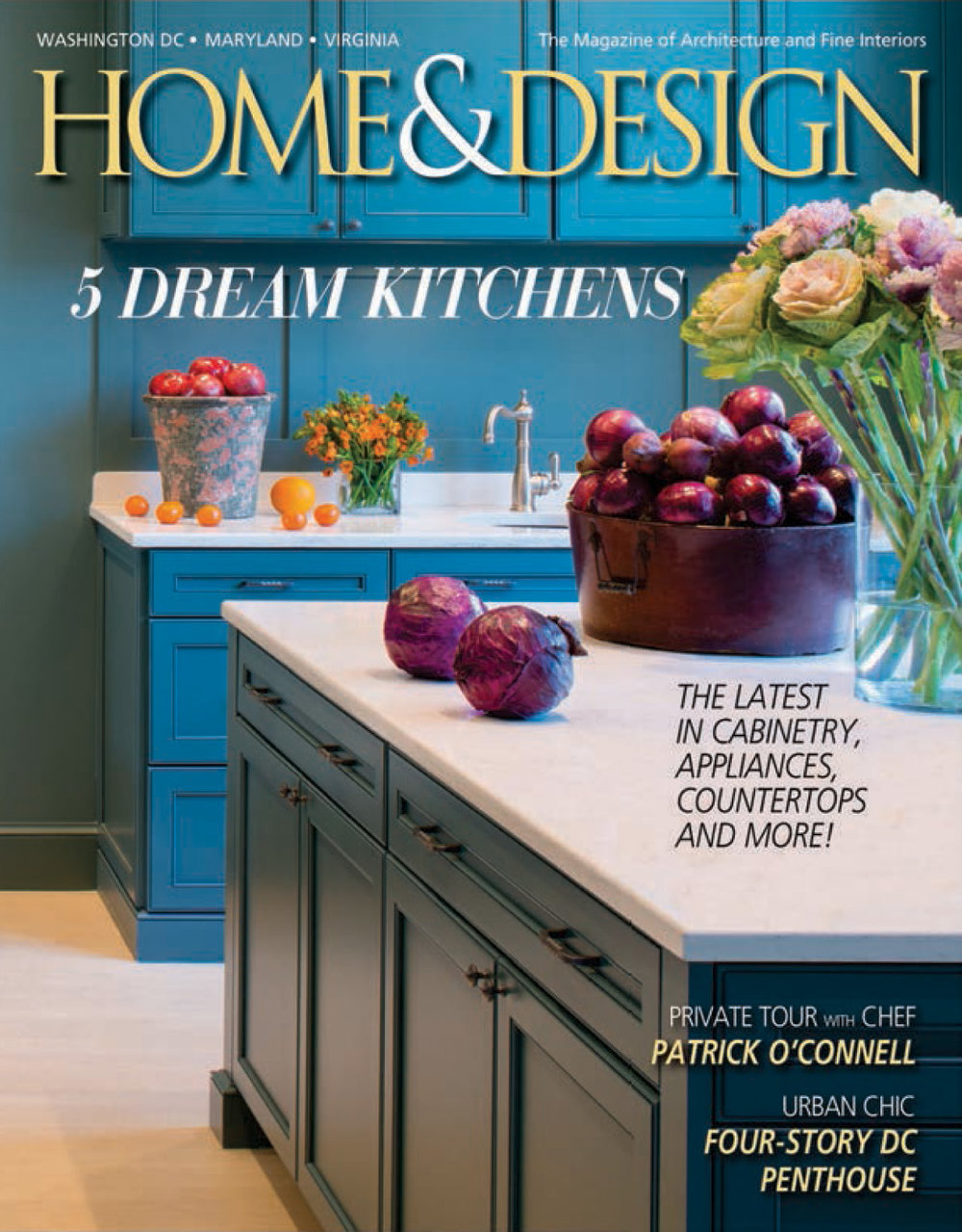 "Home & Design magazine March 2015 ""Kitchen Karma"" Interior Designer Shazalynn Cavin-Winfrey of SCW Interiors designs a custom kitchen & cabinetry by Christiana"
