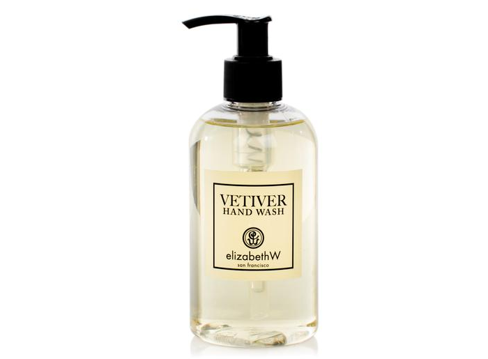 ElizabethW's   Vetiver Hand Wash   feels silky, cleanses gently, and leaves hands smelling great.