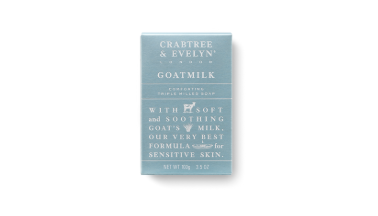 Crabtree & Evelyn's   Goatmilk Comforting Triple Milled Soap     is gentle enough for all skin types.