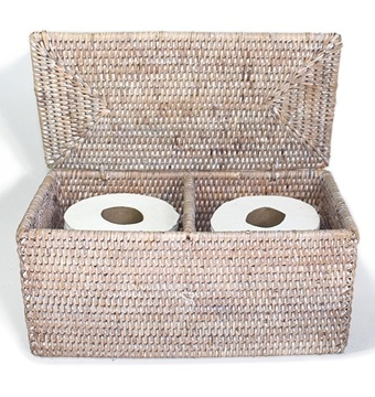 This Matahari  Double Toilet Paper Holder  can be purchased by calling SCW Interiors at 703.549.2449.