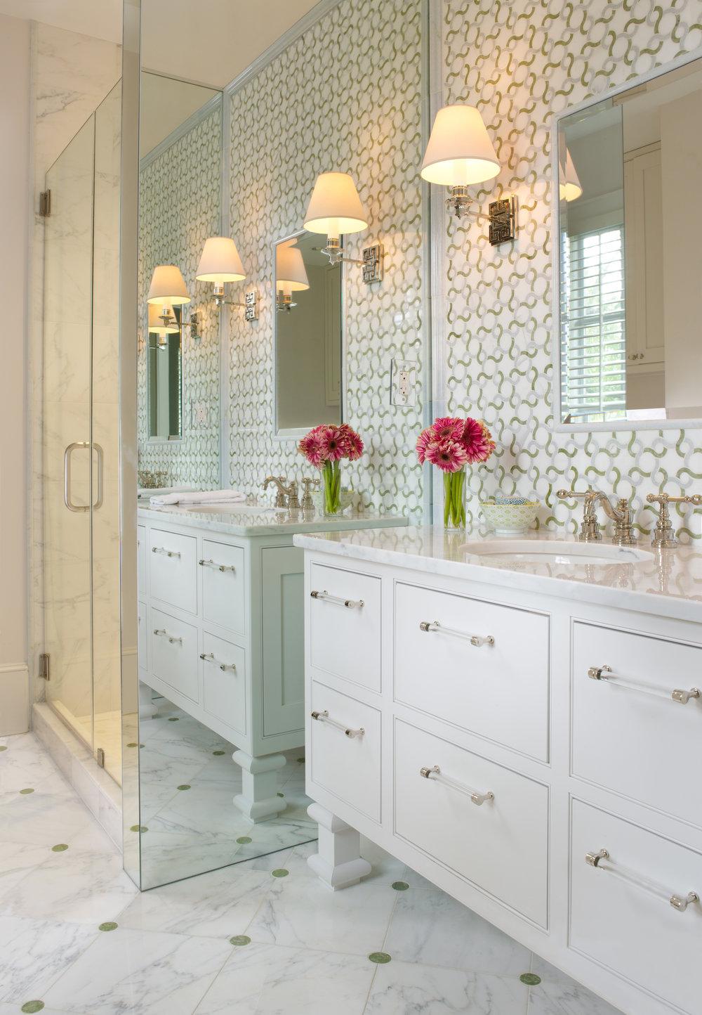 Alexandria, Virginia bath design by SCW Interiors.