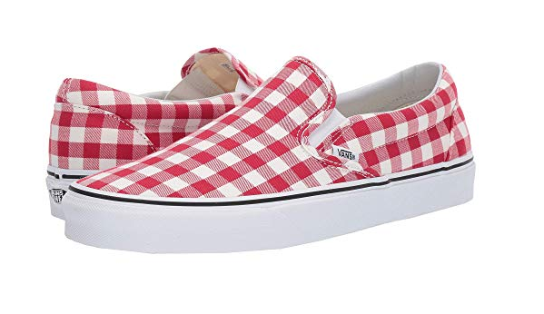 Vans Red and White Gingham Slip On.PNG