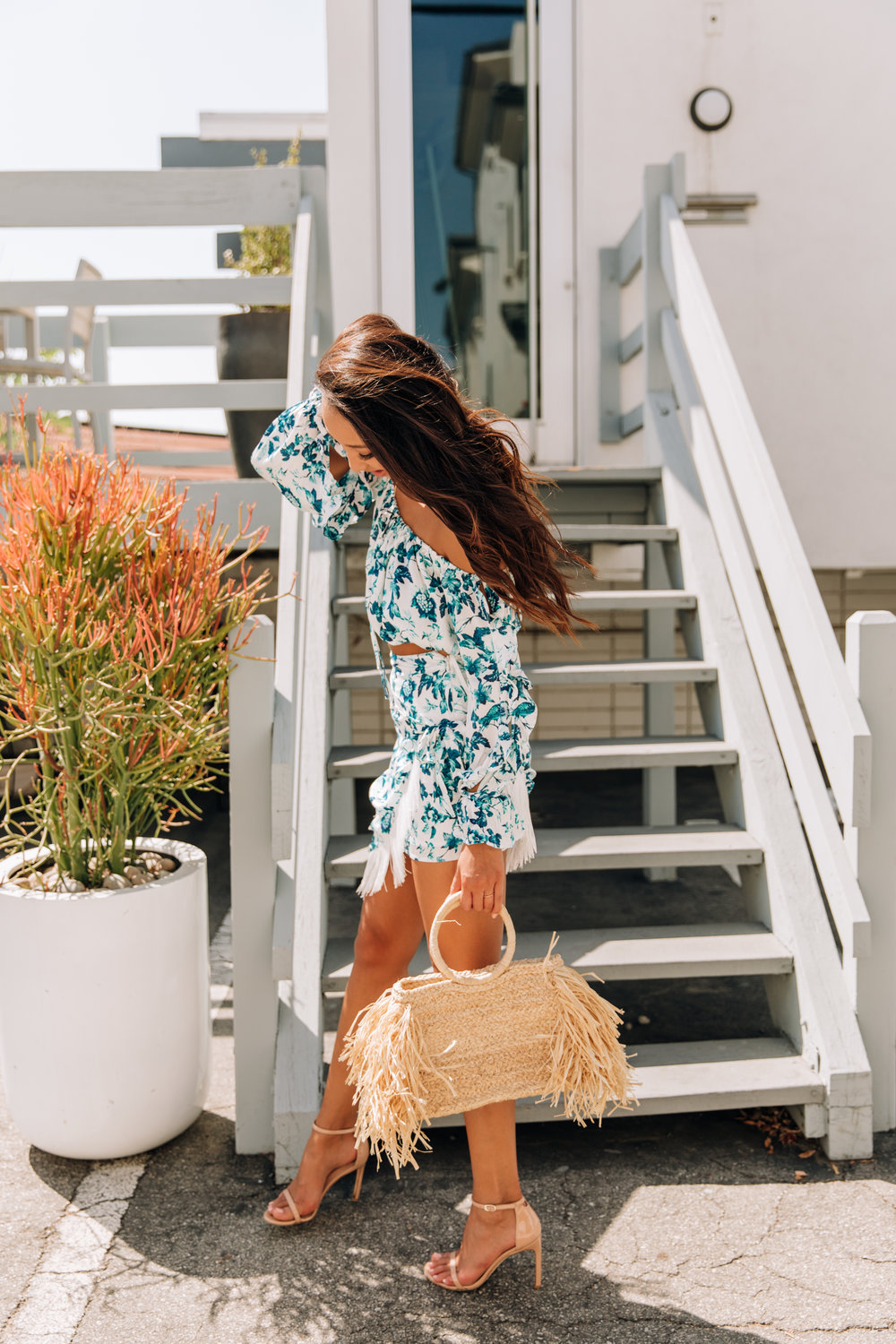 And pair your set with another summer trend- - your favourite straw bag.(so ridiculously summer, I know) and with so many floating around, here are some fun ones that will make you stand out.