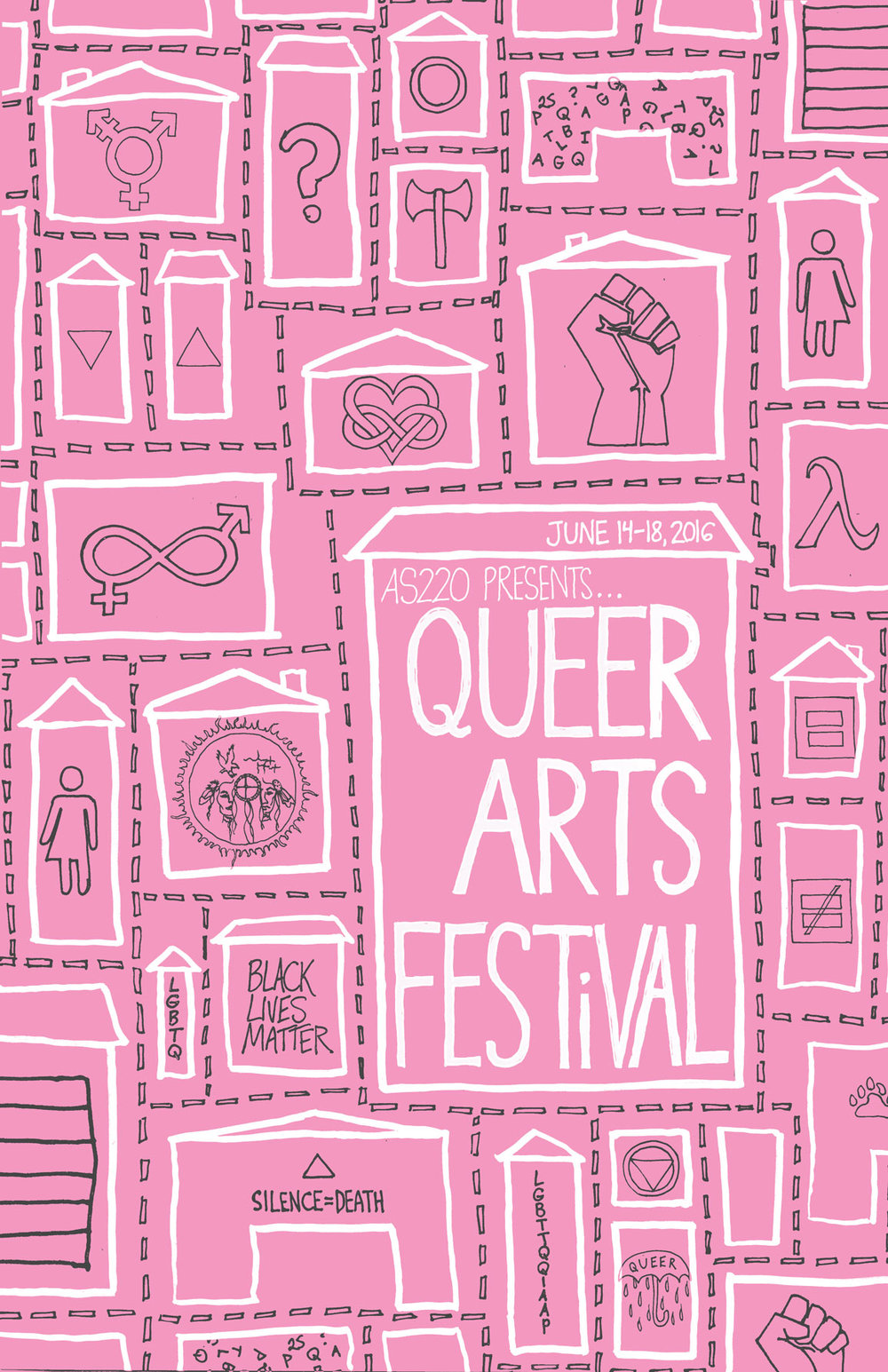 AS220 Queer Arts Festival Poster 2016