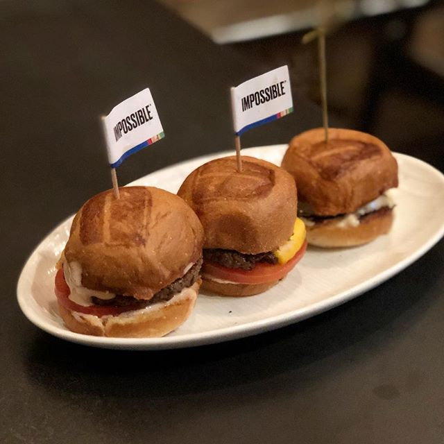"Sliders are a good option when you're all about the plant based Impossible ""meat"" but still want a taste of the truffle burger. — #impossibleburger #umamiburger #dtla #artsdistrictla #artsdistrict #downtownla #losangeles #burger"