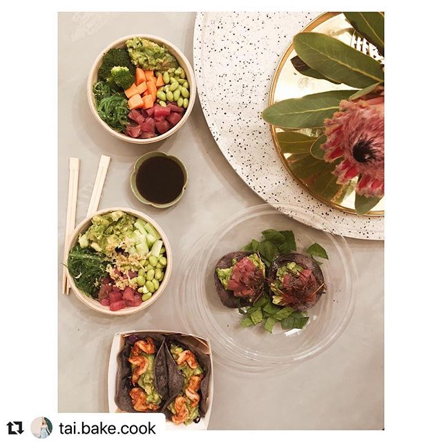 thanks for the love @tai.bake.cook ・・・ Sometimes you just need dinner that's delivered in a bag right to your sofa 😋 Did I over order @lucaberri 🤤 Really delicious tacos, tostadas and poke from @good_blue_ 💙 @deliveroo @deliveroo_italy  #sofadinner #deliveroo #taco #poke #milan #takeaway #healthydinner #tostadas #pokebowl #healthy #healthytakeaway #avocado #eatclean #glutenfree #milano #milanfood