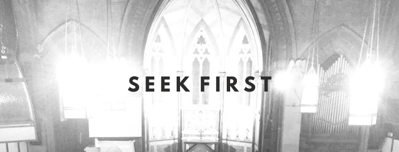 Wednesday night prayer meeting all about seeking first God's kingdom for St Peter's, Brockley and London. 7.30pm @ St Peter's