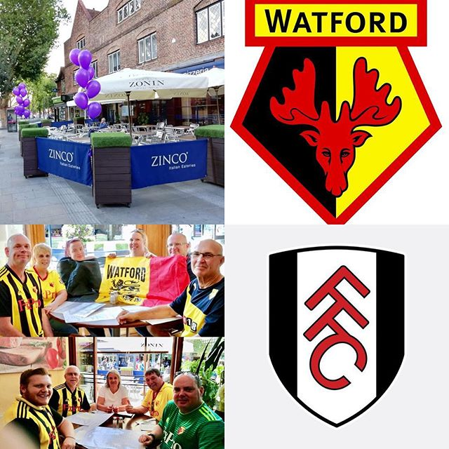 Watford FC take on Fulham FC at Vicarage Road Stadium Watford tomorrow night. Come and see us on the Parade and enjoy a delicious Italian meal. Buon Appetito!! #wfc #ffc #watfordfc #fulhamfc #thehornets #thelilywhites #football #sports #premierleague #vicarageroad #italianrestaurant #pizzeria #goodfood #hertfordshire #london #watford #instagood #footballfans #tuesday #soccer