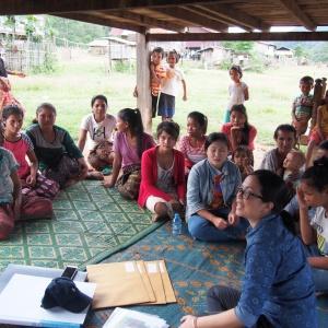 Women participants in Ban Tok Ong Keo.