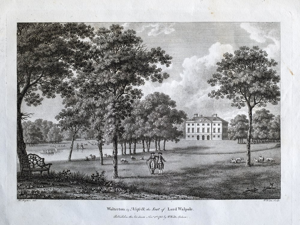 The south gardens and lake, November 1st 1783