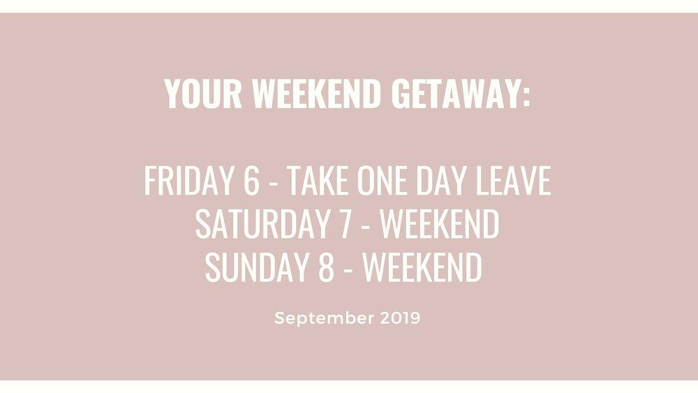 September weekend retreat