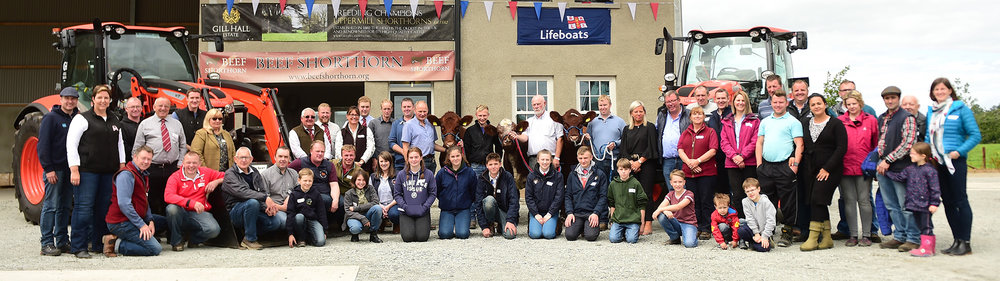 The weekend's Beef Shorthorn enthusiasts at Gill Hall