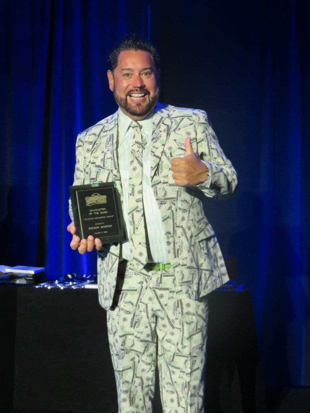Awards - Character of Game - Nelson Morven.JPG