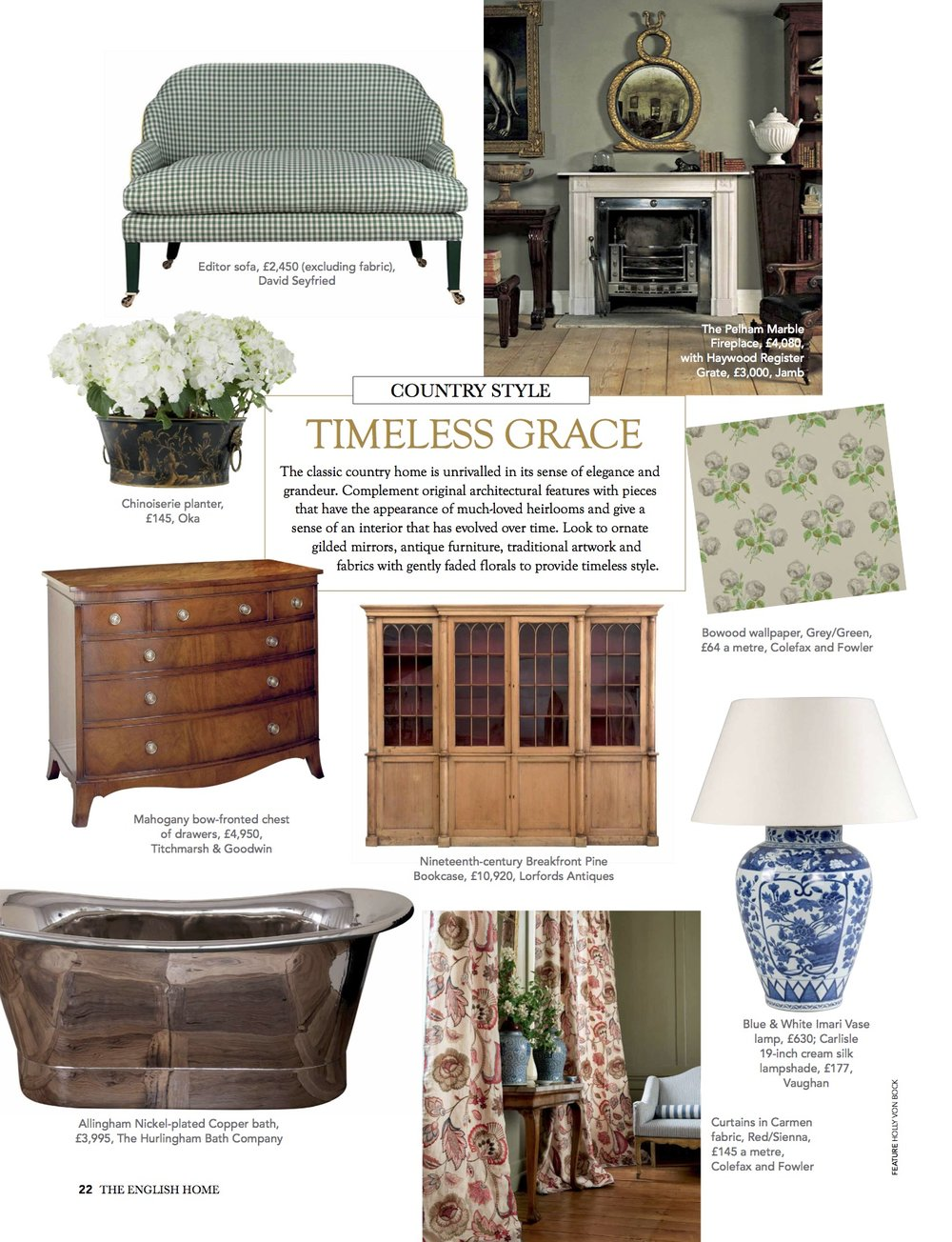 Timeless Grace Cottage Style The English Home Magazine Holly Von