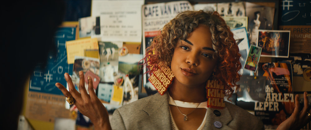 Tessa Thompson as provocateur artist Detroit in Sorry to Bother You Credit: Annapurna Pictures