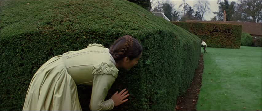 In the manicured and tamed gardens of the English . . .