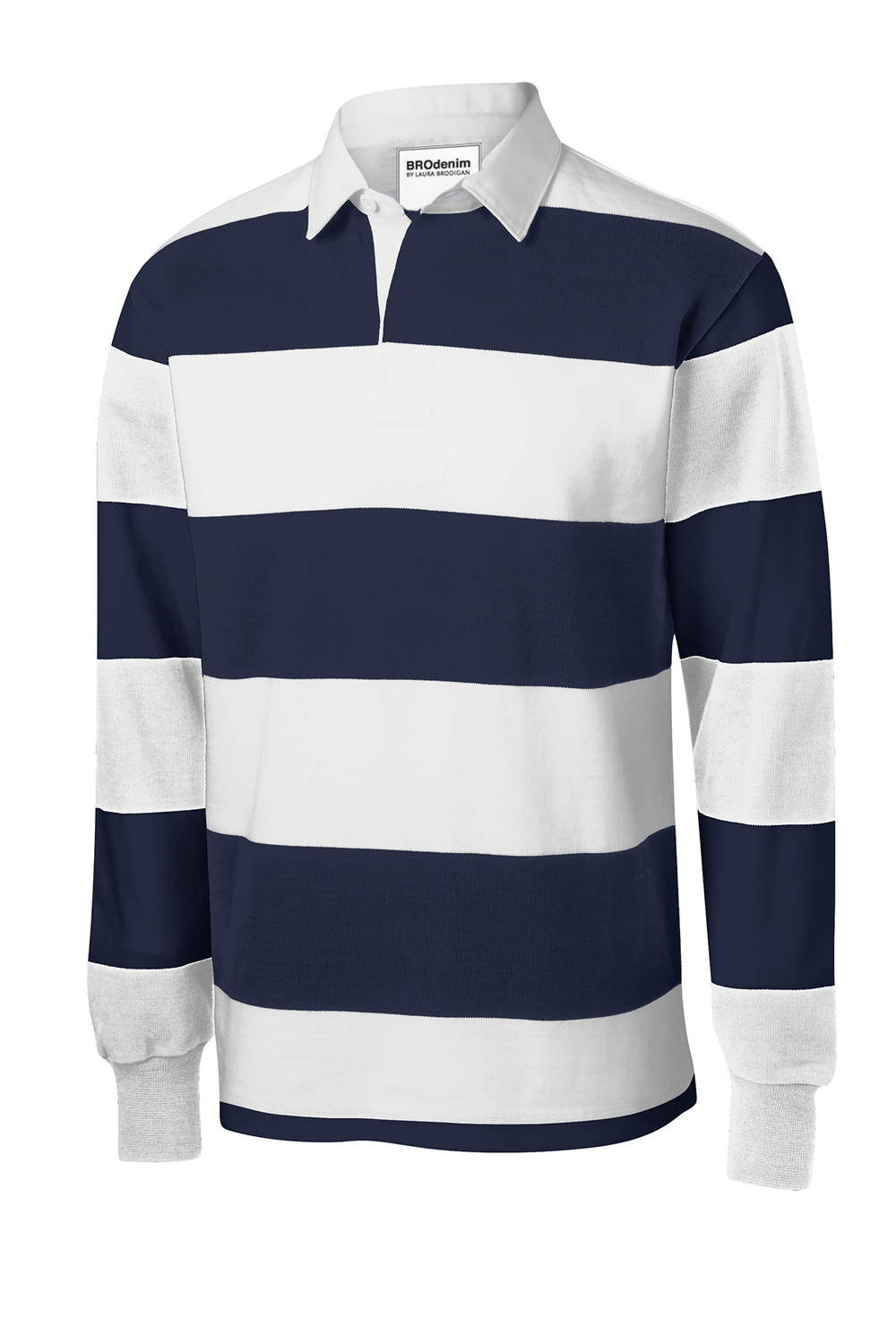 Vintage Rugby  - ADULT [XS-4XL}A lighter weight and authentic rugby polo in popular team colors6.5-ounce, 100% ring spun cotton jerseyTag-free labelEngineered with yarn-dyed stripesWoven twill collarTwill-taped neck2-button twill-reinforced placket with rubber buttons1x1 rib knit cuffs