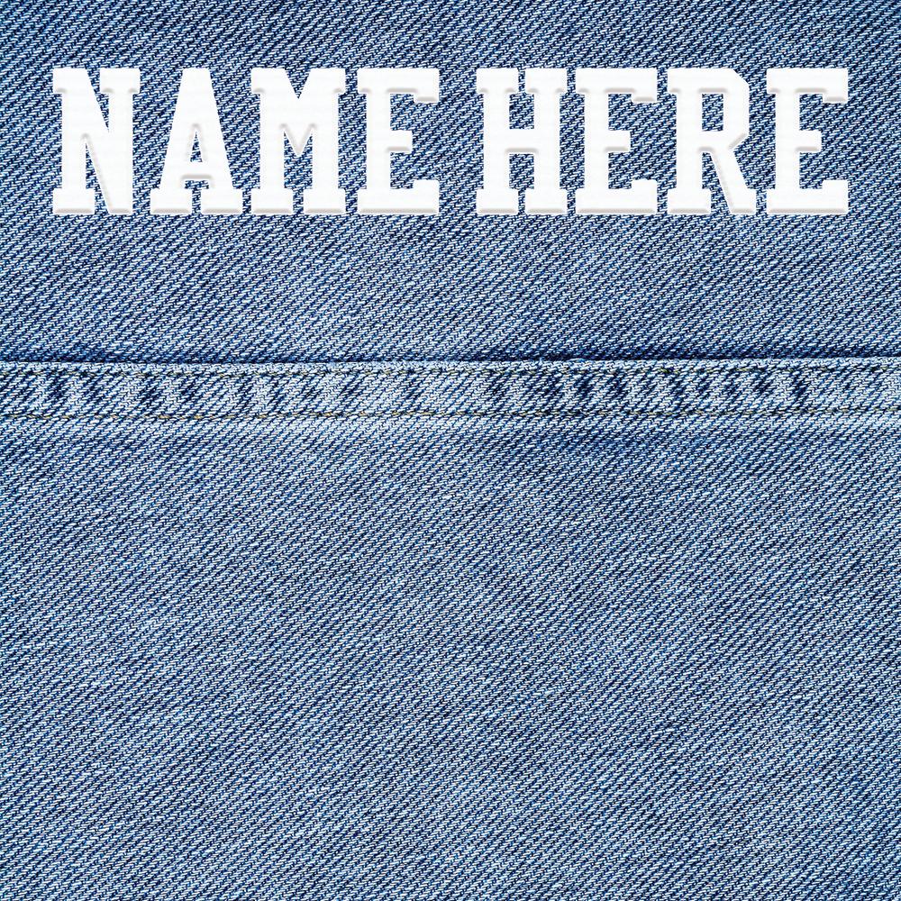 Custom Back Nameplate - $16