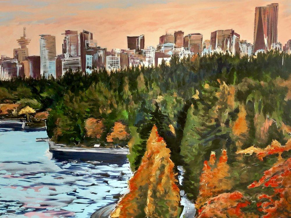 Vancouver Skyline No. 3:  Stanley Park View  2018