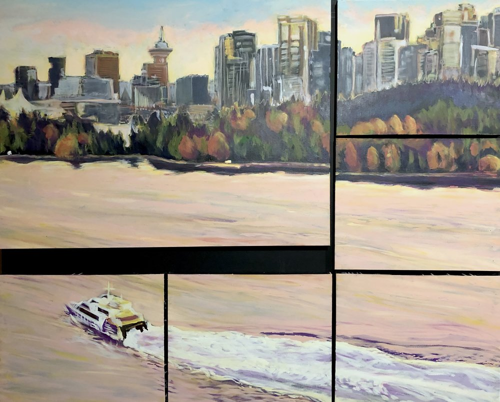 Vancouver Skyline  No. 2:  Inlet View Polyptych  2018