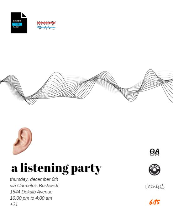 Listening Party 12/6/18