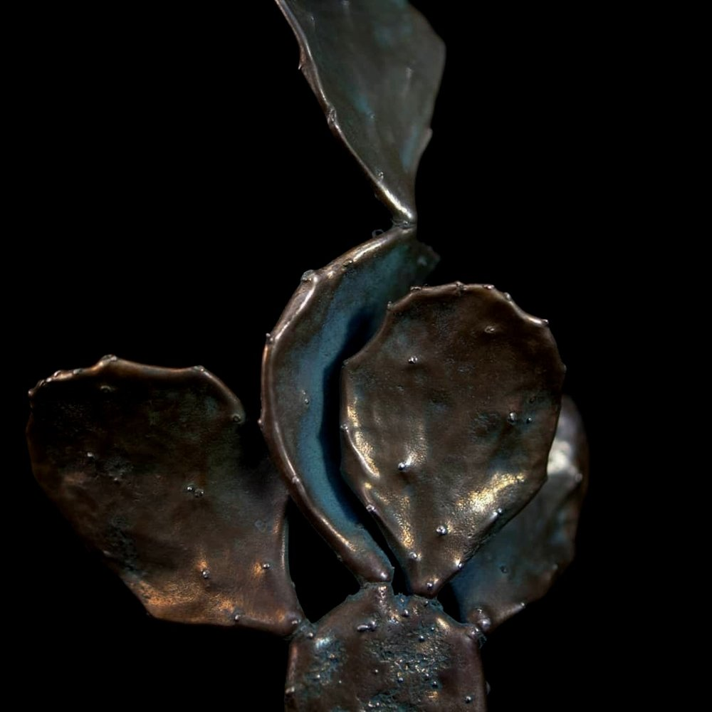 Casting Calls - Moving forward, I began growing plants and succulents that had interesting forms and textures. To this day, I continue to take different plant materials and make one-of-a-kind pieces out of silver and bronze, often embellished with precious and semi-precious gemstones.