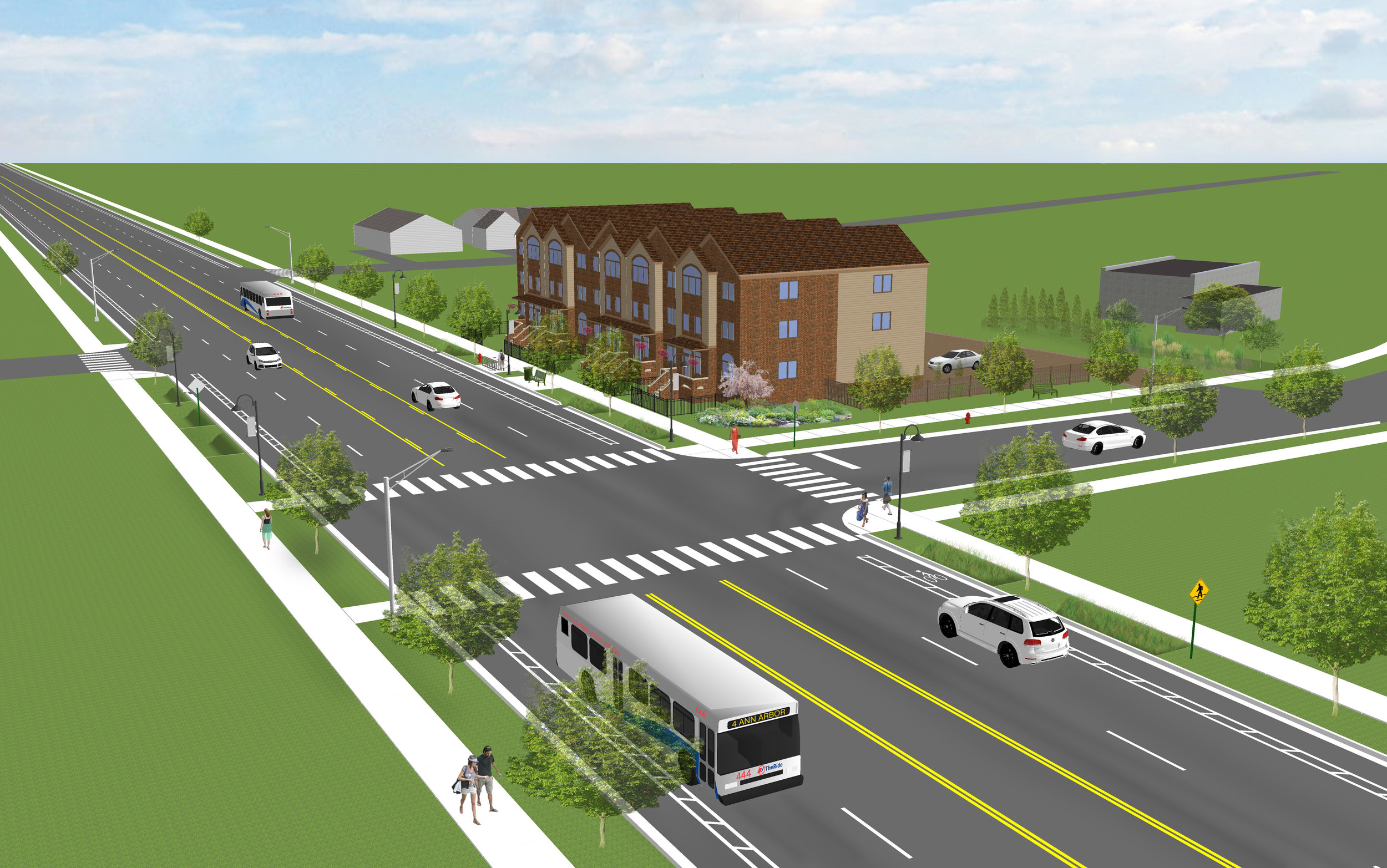 Complete streets plan in Pittsfield Township