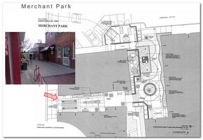An element of Saline's downtown streetscape plan