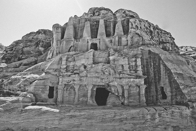 Petra, Jordan circa 2010/2011. I am fortunate enough to have gone twice. . . . . . . . . . . #petra #travel #ancient #travelphotography #ruins #adventure #blackandwhite #landscape #landscapephotography