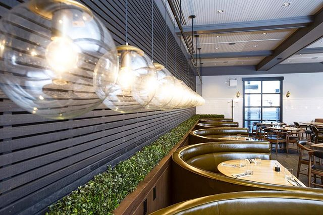 EARLS || A row of lights lining the booths at a previous renovation at @earlsrestaurant. . . . #macleodbuilders #macleodbuilt #macleodandproud #commercialrenovation #commercialbuilders #restaurantrenovation #earlskitchenandbar #bulblight