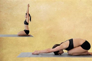 8 - On the 8th day of Christmas my true love gave to me, 8 Turtle Poses (Ardha Khurmasana), 7 cat-cows, 6 Cobras, 5 Down dogs, 4upward dogs, 3 chatturangas, 2 easy seats, and a Spinal Bind to twist and feel free.