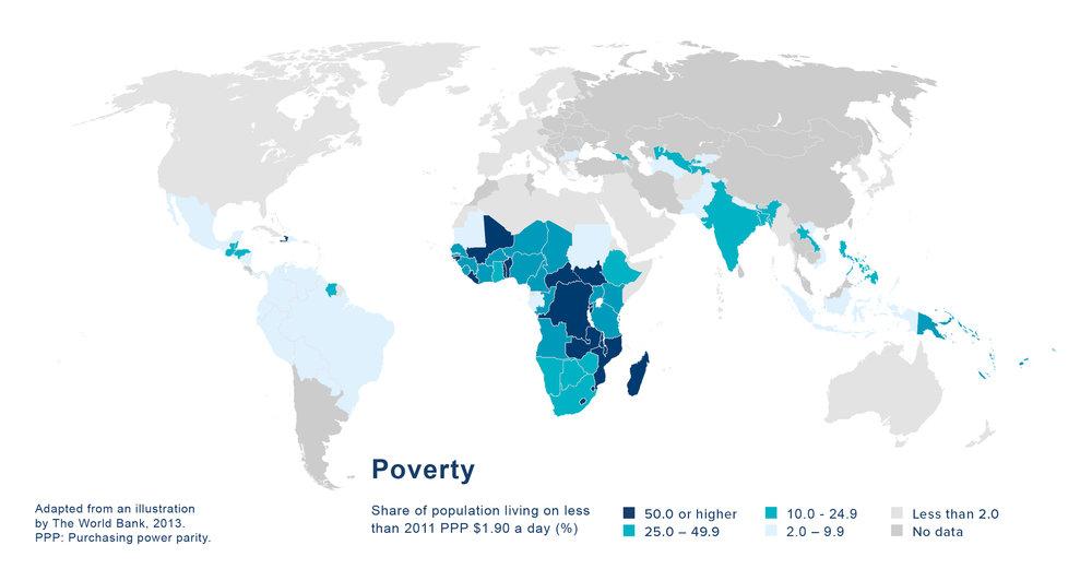 Global Poverty Distribution Map