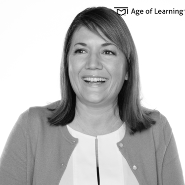 <b>Christine Woertink</b> <br>SVP of Design <br>Age of Learning
