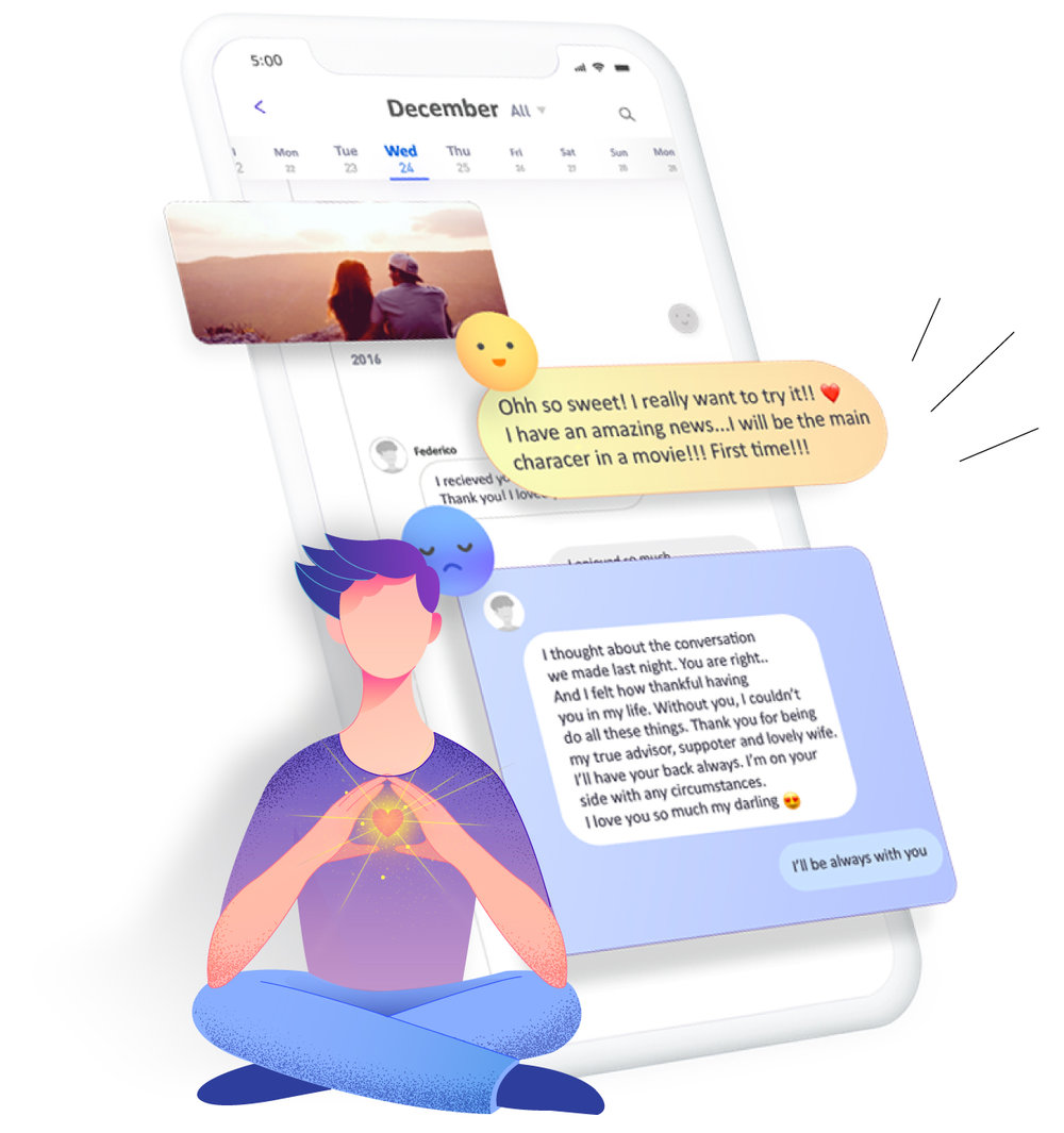 Keep your best messages in a diary - Deary saves all messages within a digital diary. You can re-visit your own conversations whenever you like.