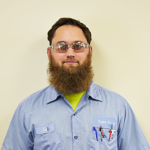 Joe EmbryMACHINE SPECIALIST - Joe  plays an important role in the production of all True-Surface® parts and whole goods. He programs and runs the high-tech machines that manufacture each part. Joe is also trained to check all True-Surface® machined parts for quality assurance.