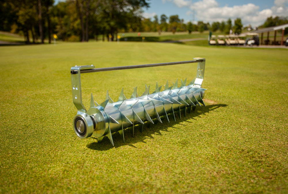 "Star Slitter - The Star Slitter is used as a turf aerator tool. Use the Star Slitter Insert for a fast and easy way to aerate the surface of the green without disrupting it. It will leave the surface smooth and ready for play.Usual Working Depth: ½ – ¾"" (13-20mm)Maximum Working Depth: ¾"" (20mm)Blade Spacing: 1 ½"" (40mm)Blade Type: 11 7-point spring steel blades"