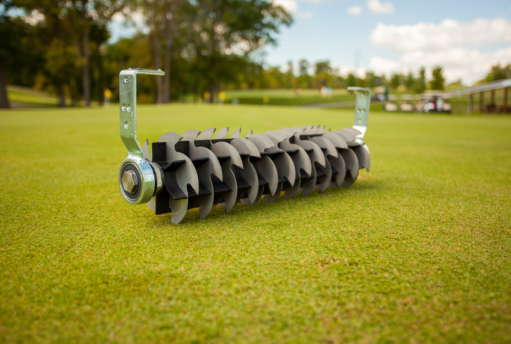 "Vacu-Scarifier™ - For times when you need to cut in a little deeper you will need to utilize the Vacu-Scarifier™ Insert. The True-Surface® Vacu-Scarifier™ is a useful supplement to regular use of the Vacu-Cutter™. It removes large amounts of thatch and opens the surface for entry of air, sand topdressing, water, and pesticides – not only leaving your greens healthy, but also immediately ready for play.Usual Working Depth: 5/16 – 3/8"" (8-10mm)Maximum Working Depth: 3/32"" (2mm)Blade Spacing: 1 ½"" (40mm)Blade Type: 12 steel blades with 5 tungsten carbide tips on each."