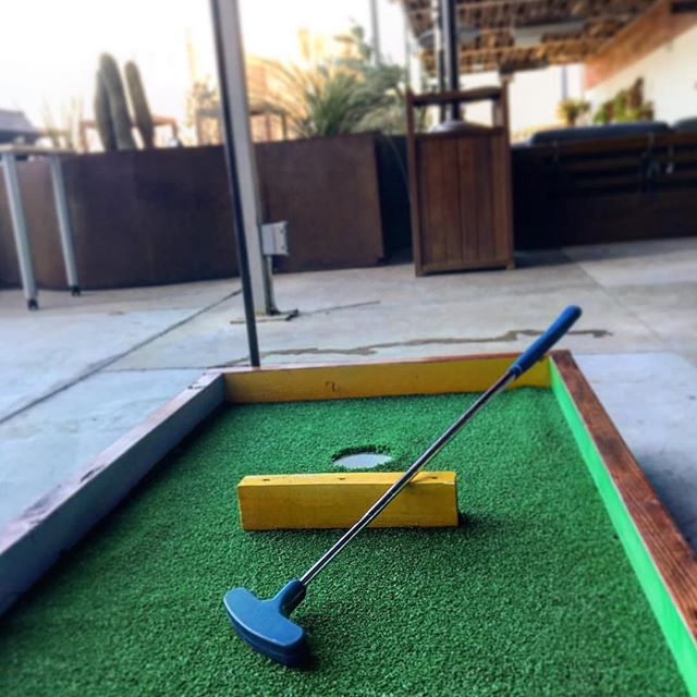 It begins! Stop by today and be part of #epbarstoolopen #minigolf bar hopping tournament presented by @downtownelpaso and @topgolf. See you at the fifth #TheFifthStory #HotelIndigo #HotelIndigoElpaso #Downtownelpaso #Downtowneptx #Itsallgoodep #epforward