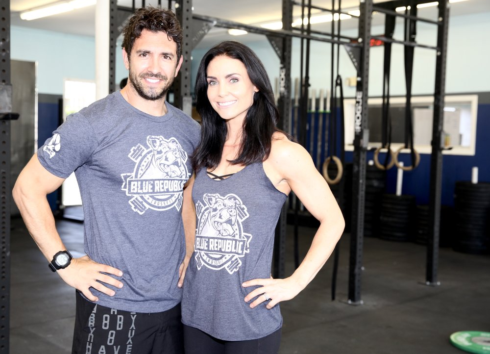 Jamie and Bronwen - owners, blue republic crossfit