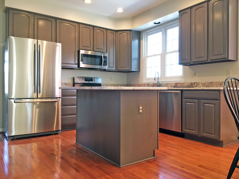 kitchen cabinet repaint lenehan studios baltimore