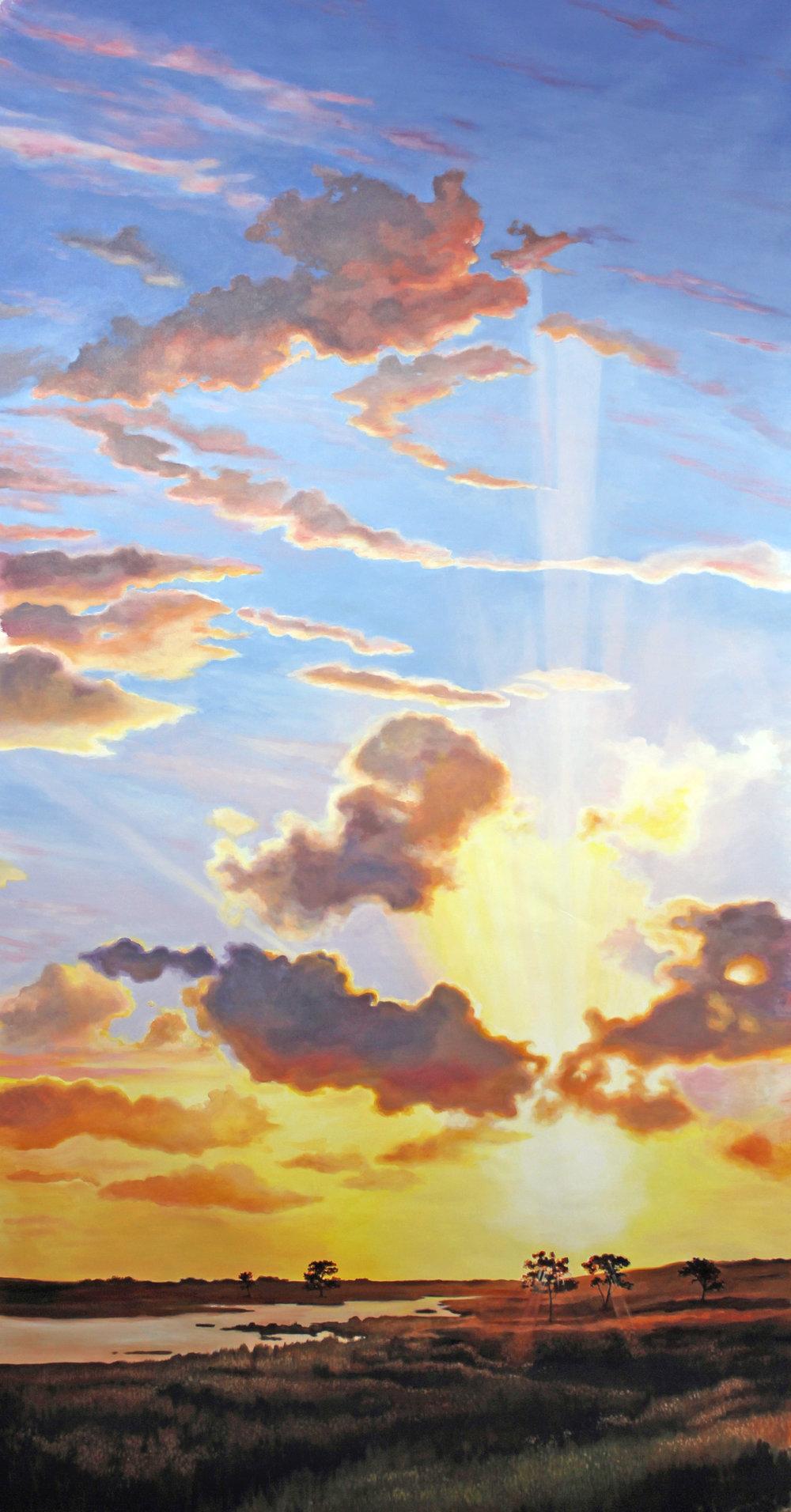 cloud mural large
